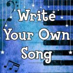 Write your own song - private songwriting classes for kids on zoom